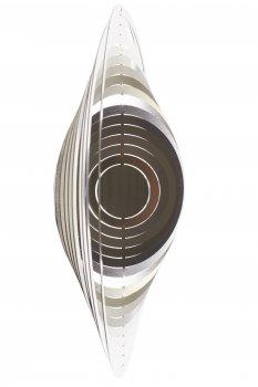 A2002 - steel4you SKARAT 3D-Windspiel Kreis aus Edelstahl