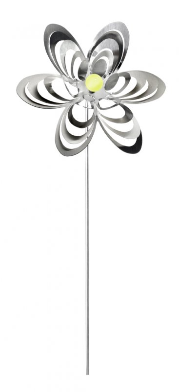 """A3001 - steel4you garden window / decoration ornament """"flower"""" stainless steel - yellow pearl"""