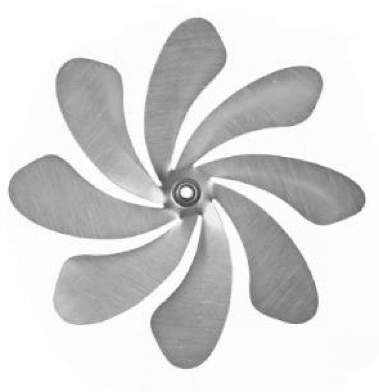 A9003 - steel4you SKARAT Ersatz-Rotor 20cm, inkl. eingepresstem Kugellager + Hutmutter